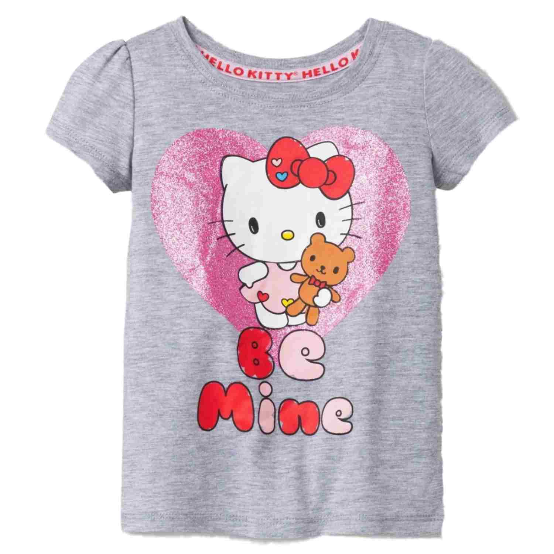 Infant Amp Toddler Girls Gray Hello Kitty Be Mine Valentines