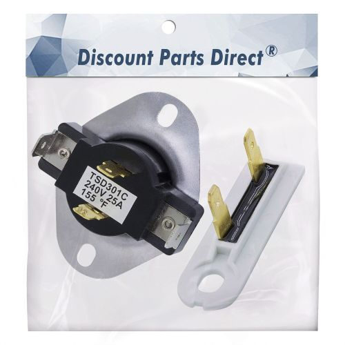 small resolution of 3387134 3392519 combo pack kit dryer cycling thermostat thermal fuse replacement part for whirlpool kenmore replaces 306910 3387135