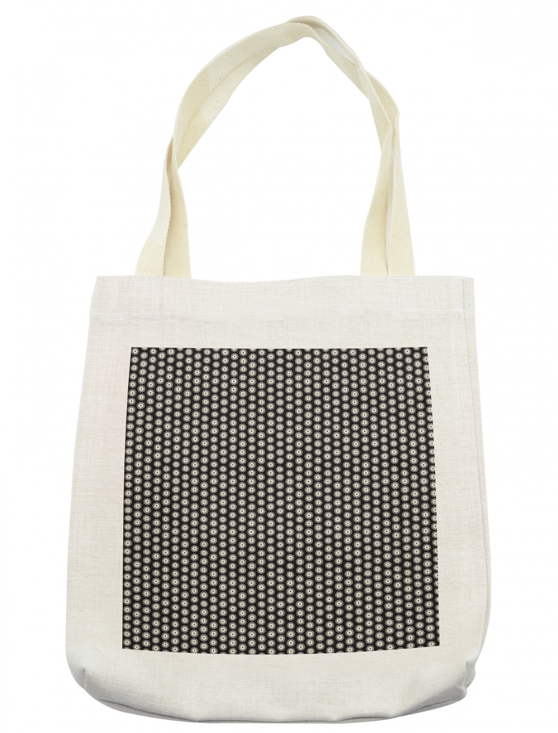 Modern Tote Bag Abstract Round Brush Strokes As Flower