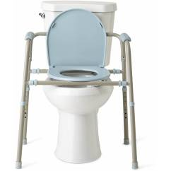 3 In 1 Potty Chair Antique Windsor Medline Steel Bedside Toilet Commode With Microban