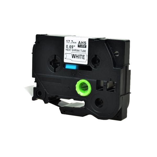 Greencycle 1pk Black White Heat-shrink Label Tape 0.69