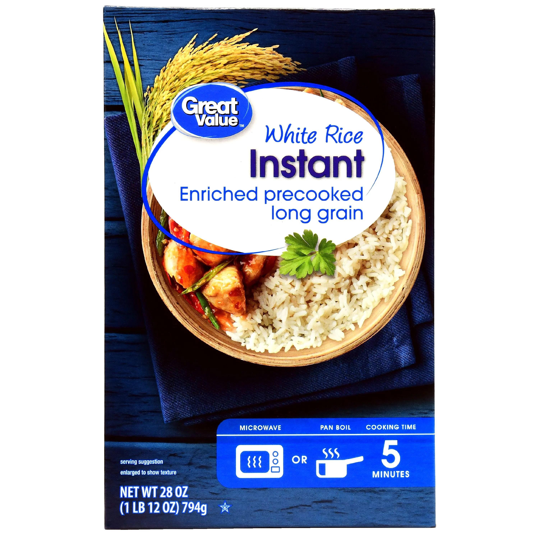 great value instant white rice 28 oz walmart com