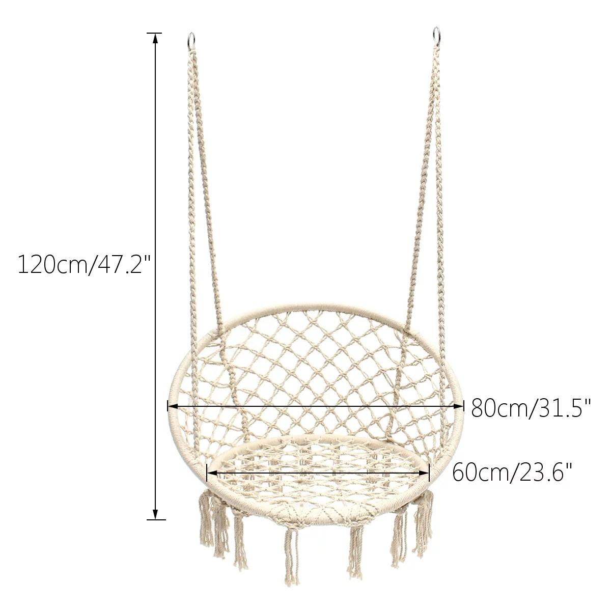 Hanging Chair Dimensions Facingwalls