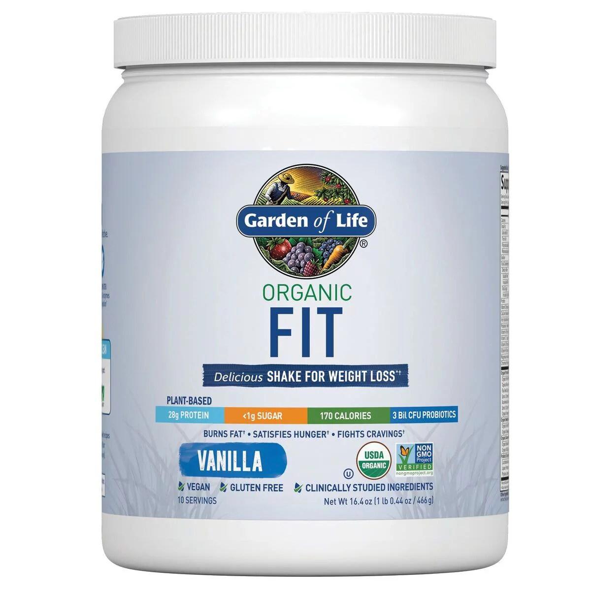Garden of Life Organic Fit Protein Powder Vanilla 28g ...