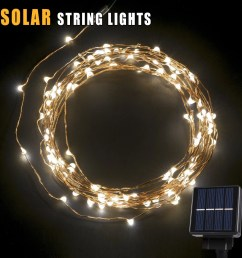betterhome 120 leds outdoor solar powered led string lights 19ft waterproof copper wire lights for garden home party walmart com [ 1500 x 1500 Pixel ]