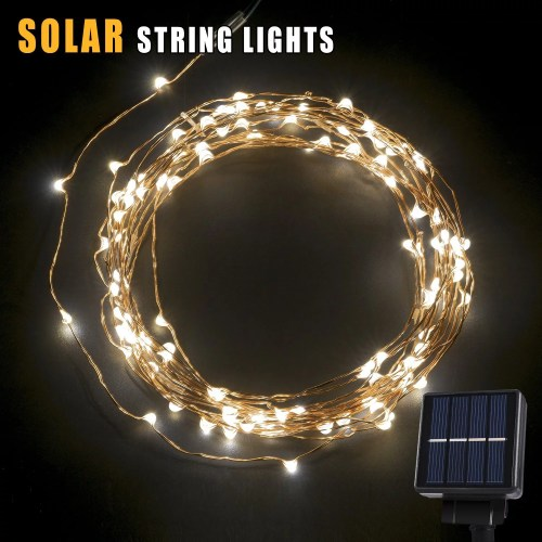 small resolution of betterhome 120 leds outdoor solar powered led string lights 19ft waterproof copper wire lights for garden home party walmart com