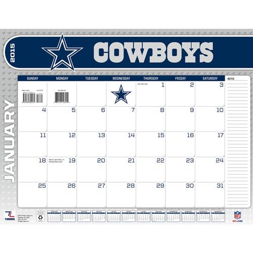 "Dallas Cowboys 2015 22"" X 17"" Desk Calendar Walmart"