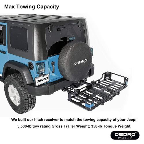 small resolution of oedro 2 inch rear bumper trailer hitch receiver kit compatible for 2007 2018 jeep wrangler jk 4 door 2 door unlimited tow trailer hitch w hitch wiring