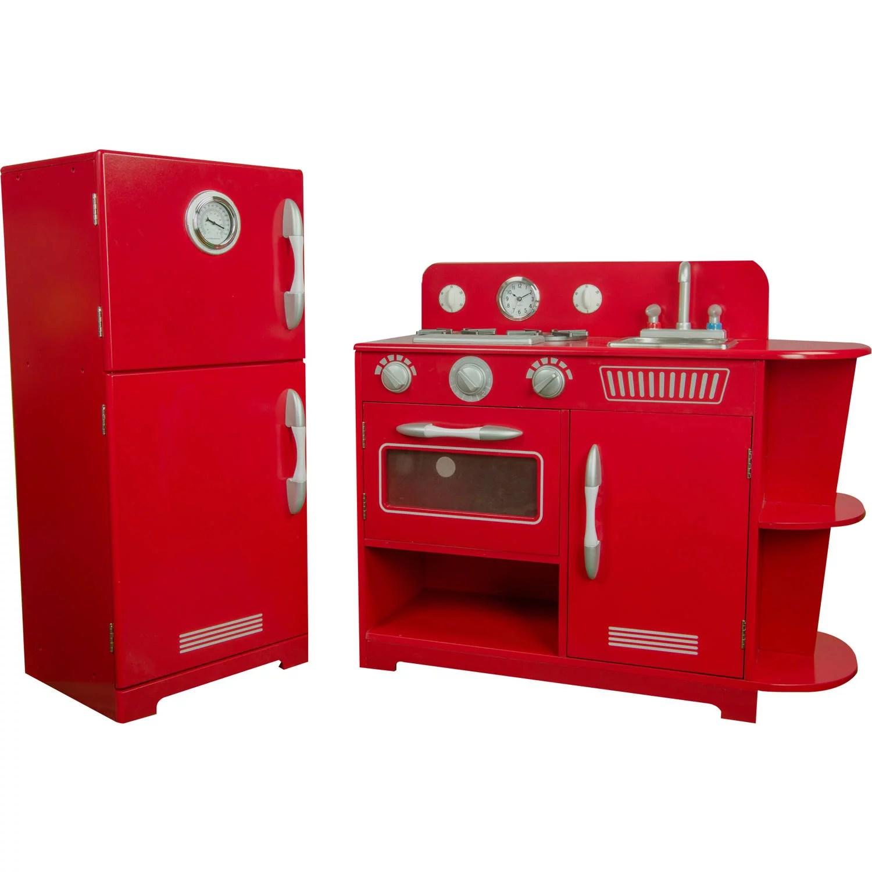 retro kids kitchen backsplash stick on tiles teamson little chef amsterdam play red