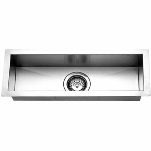 houzer ctb 2385 contempo series undermount stainless steel single bowl bar prep sink