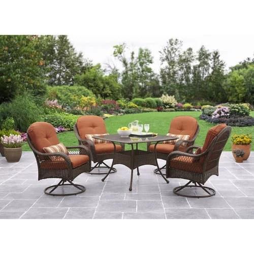 better homes and gardens azalea ridge patio dining set outdoor wicker cushioned 5 piece walmart com