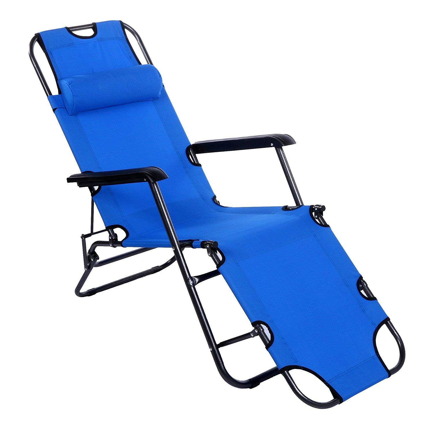recliner lawn chairs folding pictures of for living room ktaxon outdoor lounge chaise portable beach patio chair garden camping pool yard