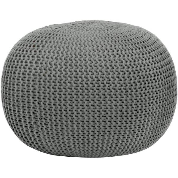 Urban Knit Pouf Stool Poof Floor Cover Decor Seat Furniture Cushion
