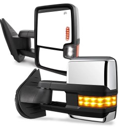 towing mirrors for 07 13 chevy silverado gmc sierra truck chrome cover power heated tow signal arrow clearance lamps side mirrors walmart com [ 1001 x 1001 Pixel ]