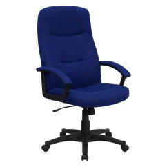 Swivel Chair Walmart Leather Recliner Chairs Canada Fabric Executive High Back Office Navy