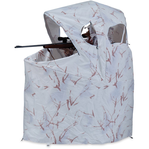 ameristep chair blind nursery rocking cushions snow camo model 88 walmart com