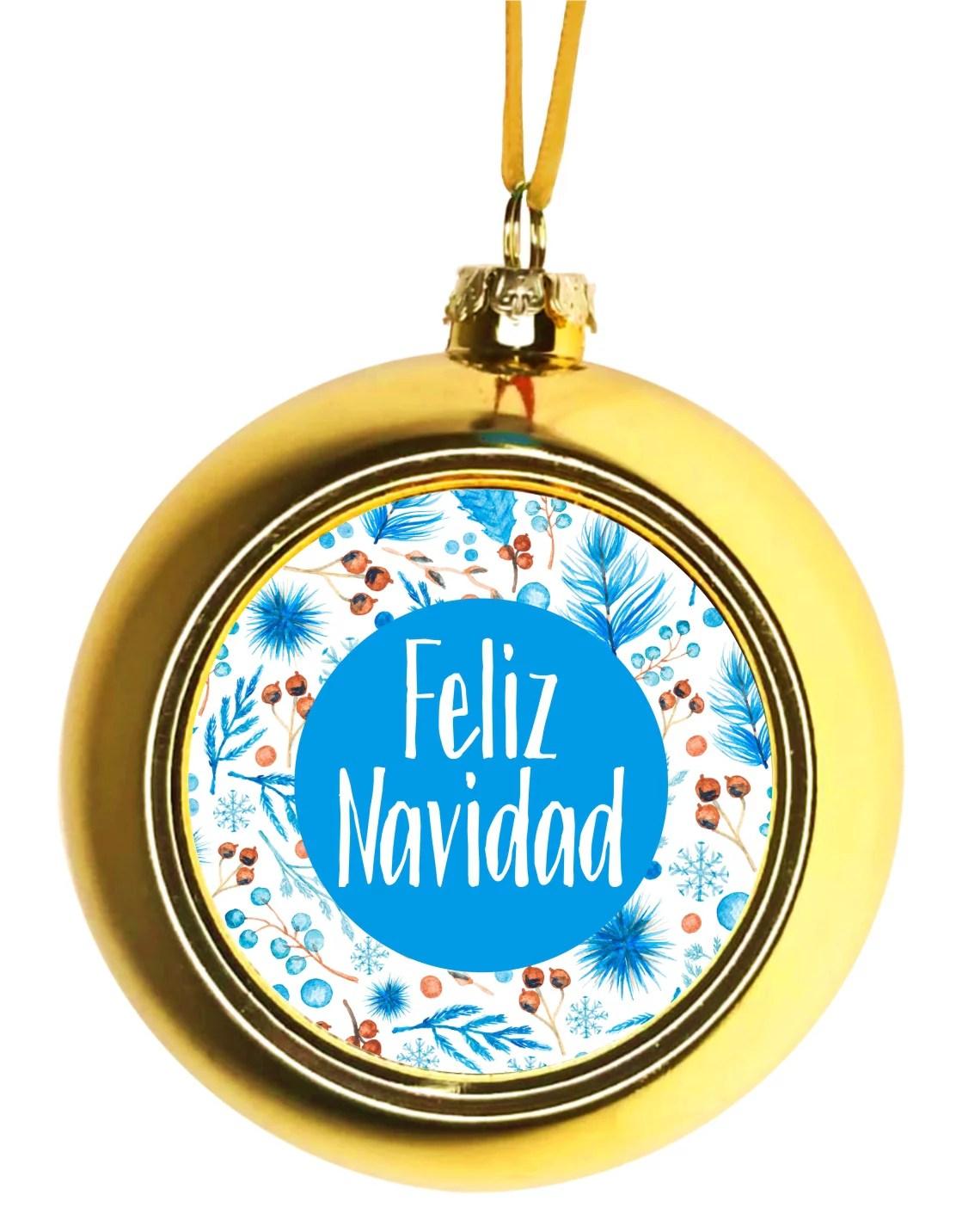 Spanish Feliz Navidad Merry Christmas Hanging Ornament