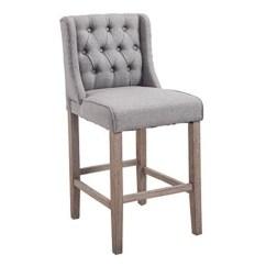 Counter Height Bar Chairs Staples Executive Chair Homcom Tufted Stool Set Of 2 Walmart Com