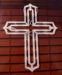 "20"" Lighted Religious Cross Easter Window Silhouette ..."