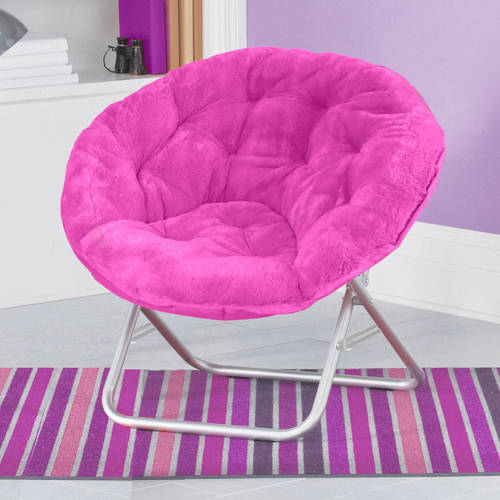 oversized saucer chair kids table set faux fur moon dorm room lounging furniture seat multiple colors new | ebay