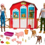Barbie Sweet Orchard Farm Barn Playset With Barbie And Ken Dolls Barn With Fence And 11 Animals Walmart Com Walmart Com