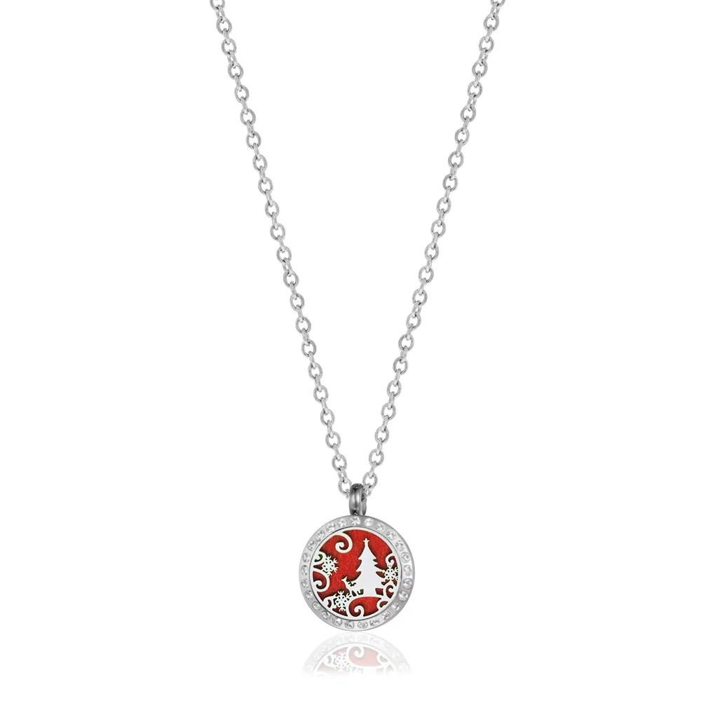 Anavia Mini Rhinestone Christmas Tree Aromatherapy Jewelry