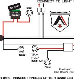 1 heavy duty rocker switch wire harness by arsenal offroad 40 amp rh walmart com 3 way switch wiring diagram momentary contact switch wiring diagram [ 1500 x 1153 Pixel ]