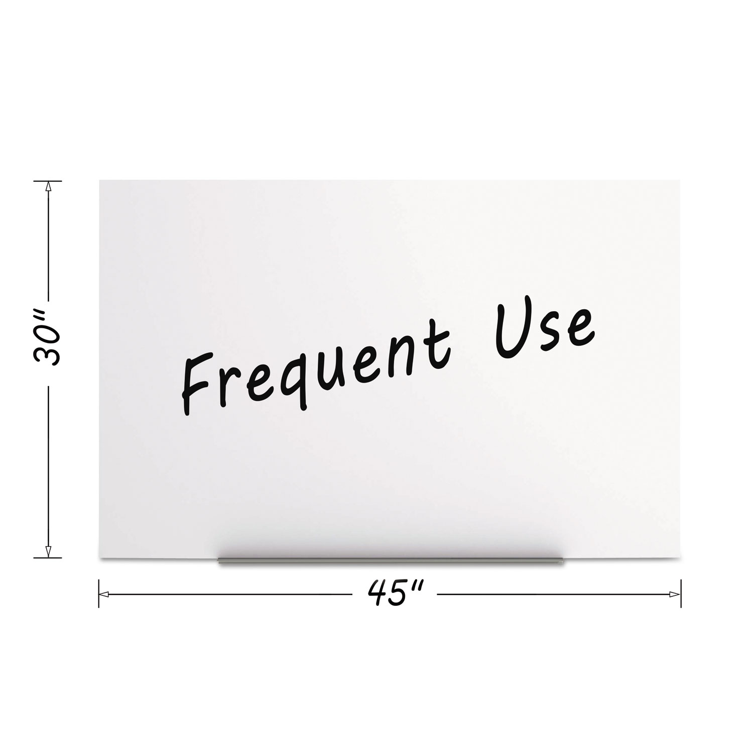 bi silque visual magnetic dry erase tile board 29 1 2 x 45 white surface