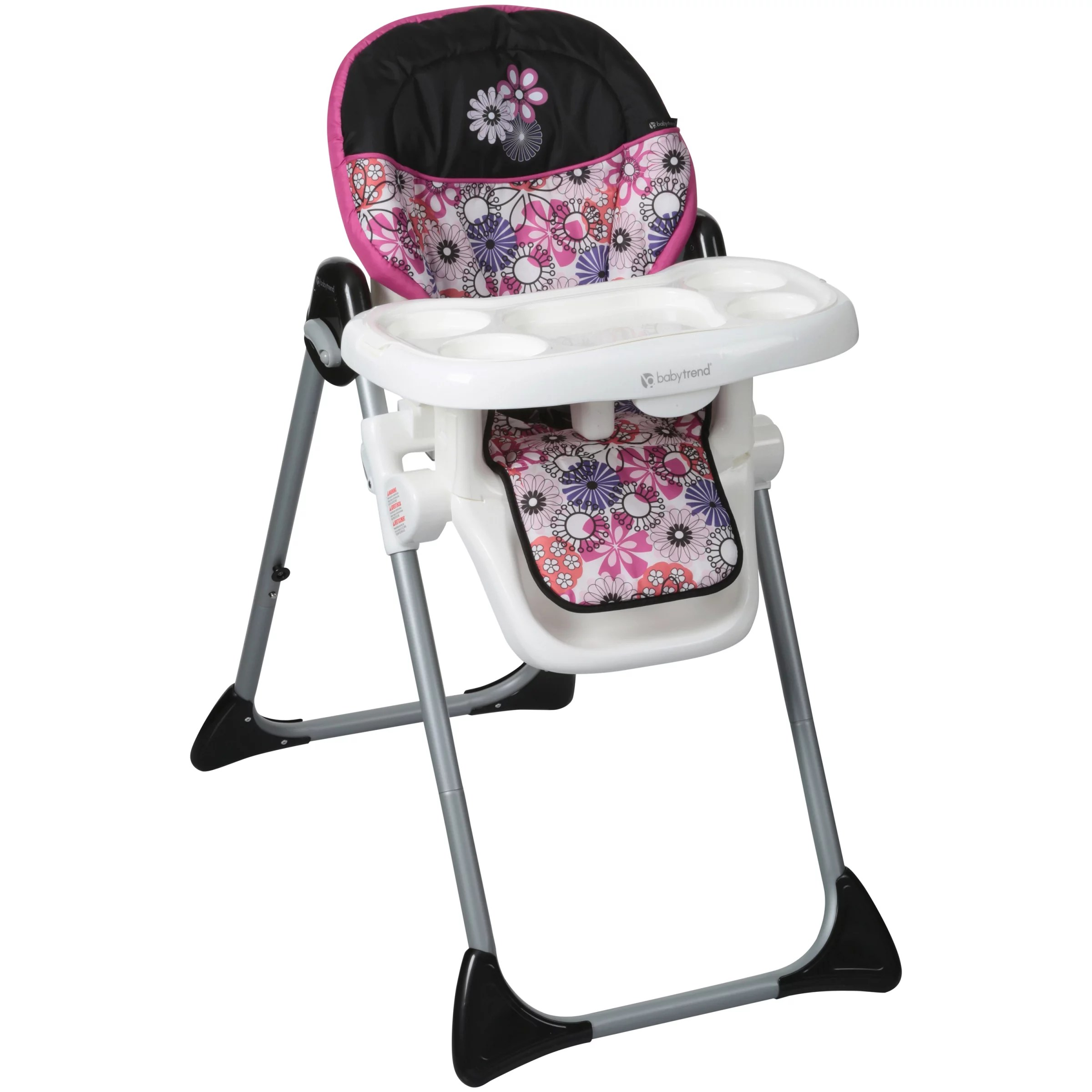 baby trend high chair recline recliner covers uk sit right adjustable floral garden walmart
