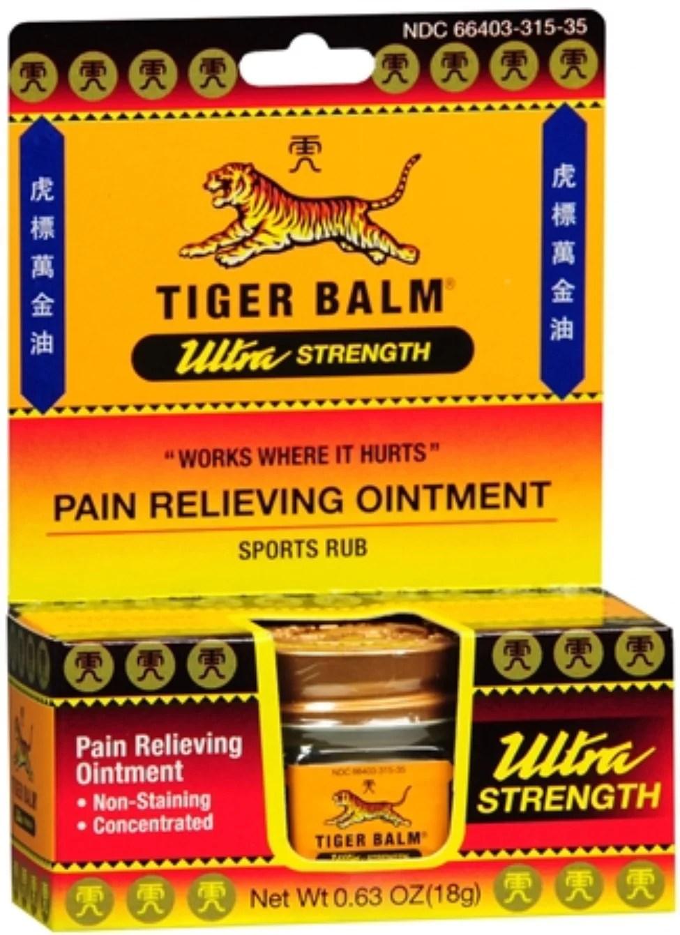 Tiger Balm Ultra Strength 0.63 oz (Pack of 3) - Walmart.com
