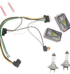 cf advance for 00 02 mercedes benz s430 s500 s500 amg s600 left or right headlight wiring harness and h7 55w headlight bulb 2000 2001 2002 walmart com [ 1900 x 1900 Pixel ]