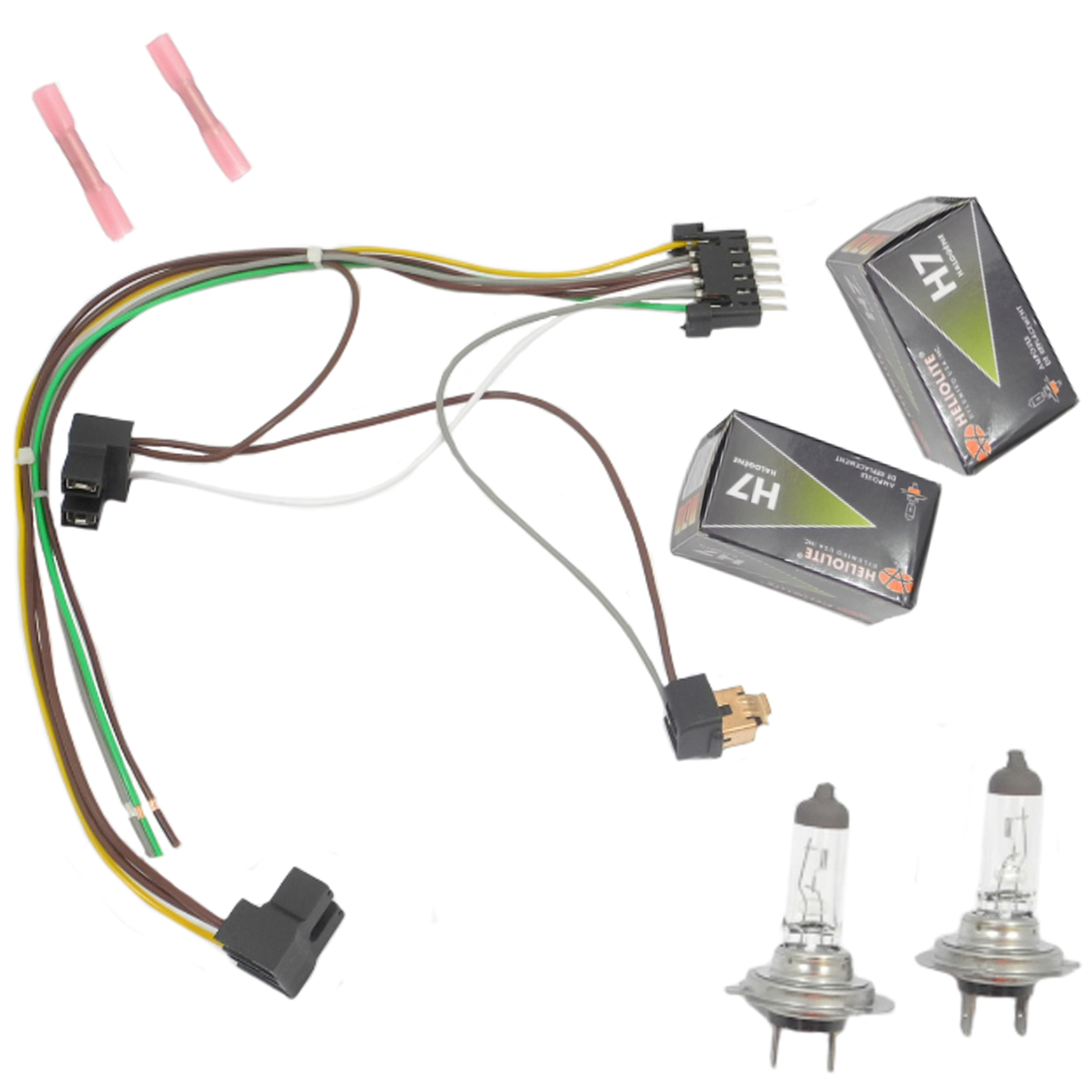 hight resolution of cf advance for 00 02 mercedes benz s430 s500 s500 amg s600 left or right headlight wiring harness and h7 55w headlight bulb 2000 2001 2002 walmart com