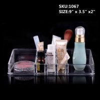 Acrylic Cosmetic Organizer Makeup Brushes Lipstick Holder