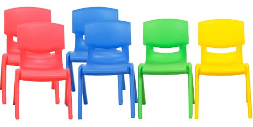 walmart resin chairs folding metal ecr4kids school stack chair 12 inch 6 pack assorted colors com