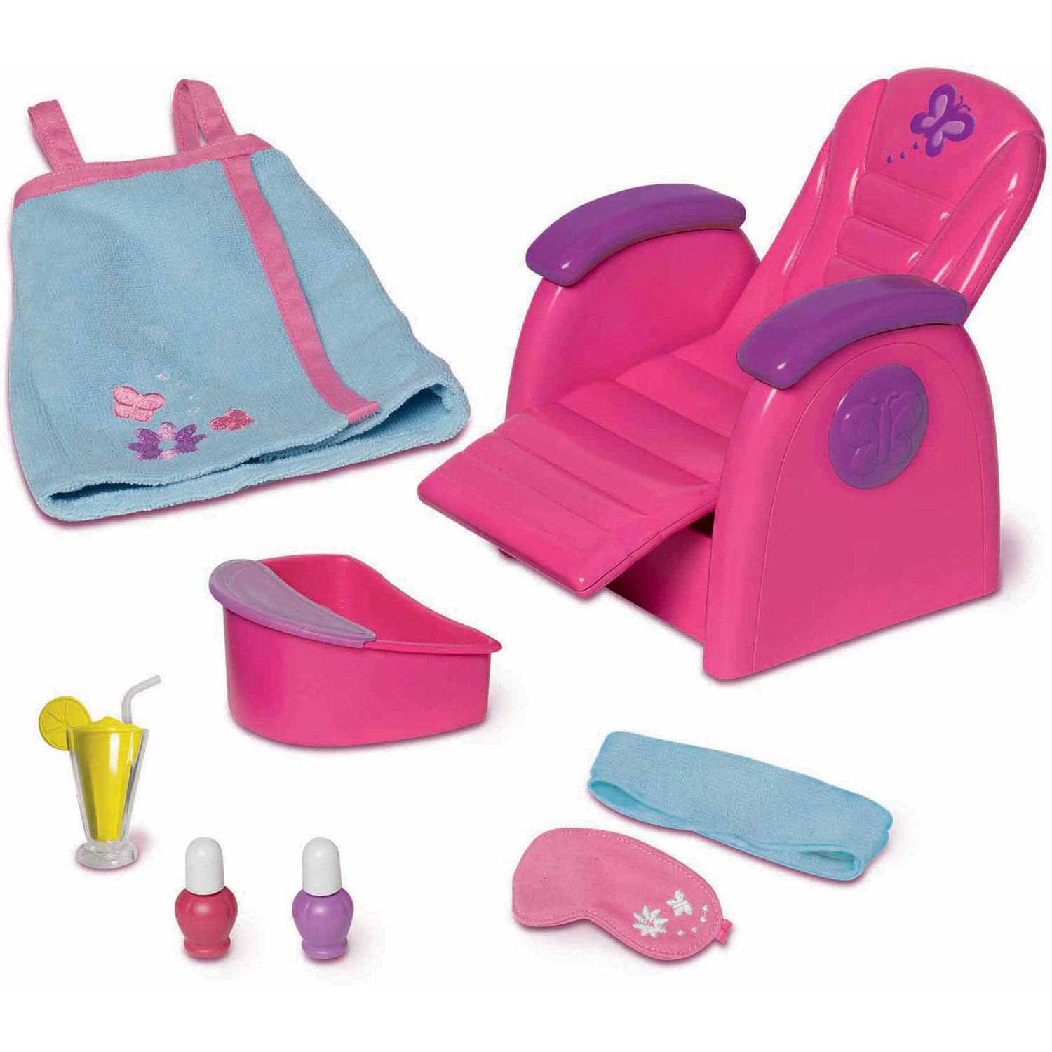 doll salon chair covers and sashes leeds my life as spa play set furniture facial bath