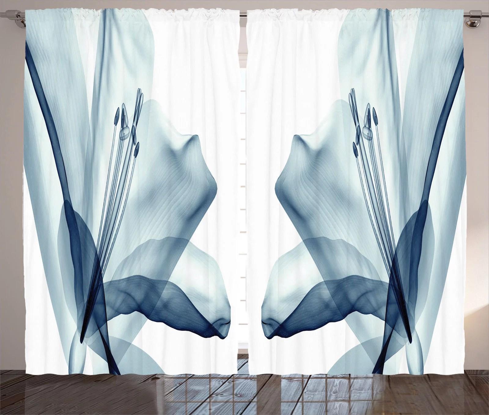 xray flower decor curtains