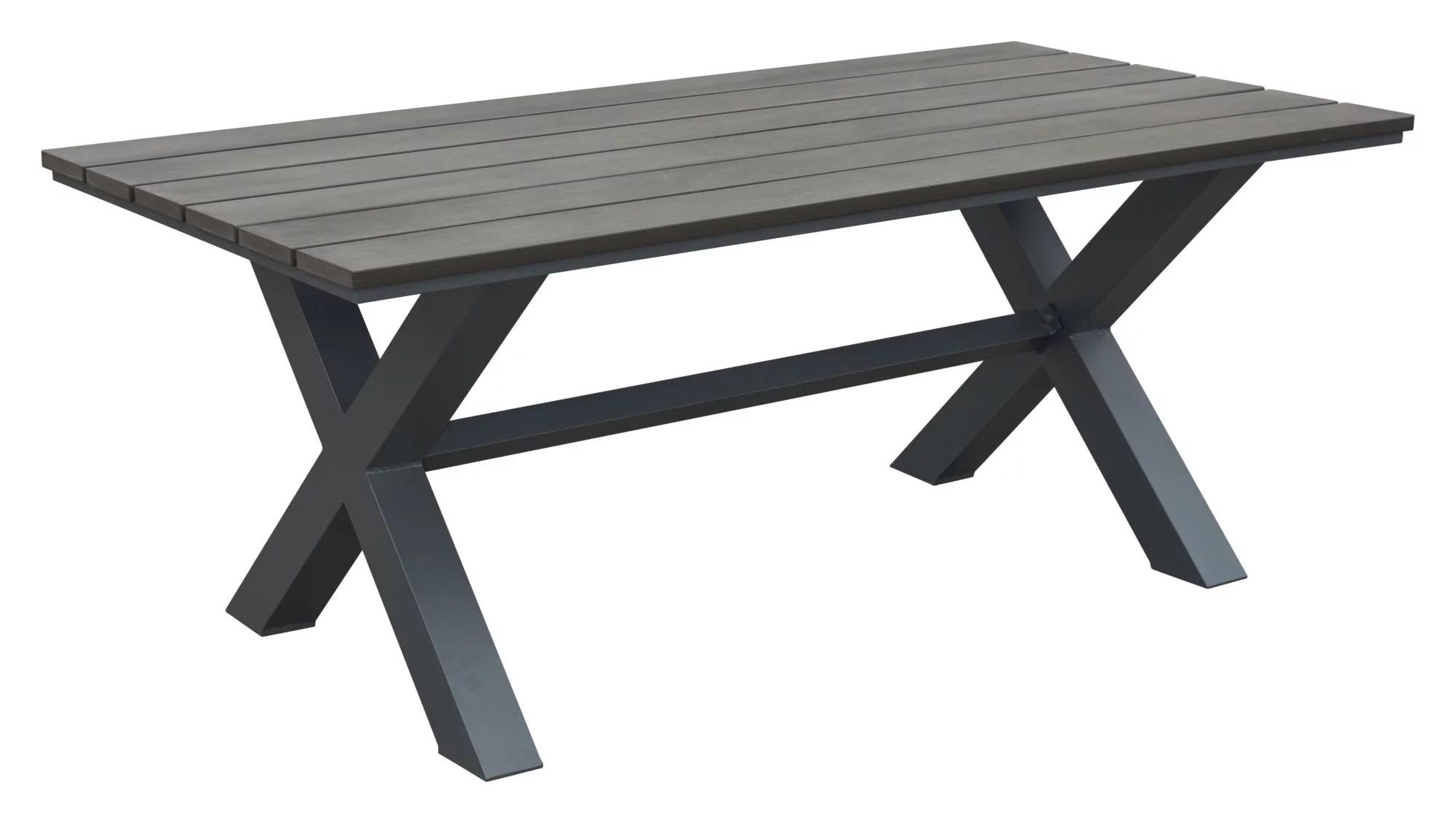 zuo modern 703817 bodega 73 long faux wood outdoor dining table walmart com