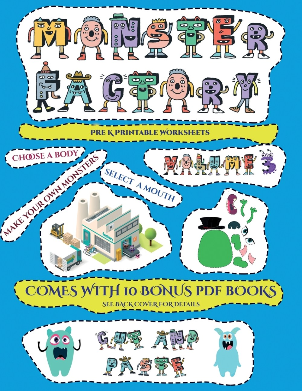 medium resolution of Pre K Printable Worksheets: Pre K Printable Worksheets (Cut and paste  Monster Factory - Volume 3) : This book comes with collection of  downloadable PDF books that will help your child make