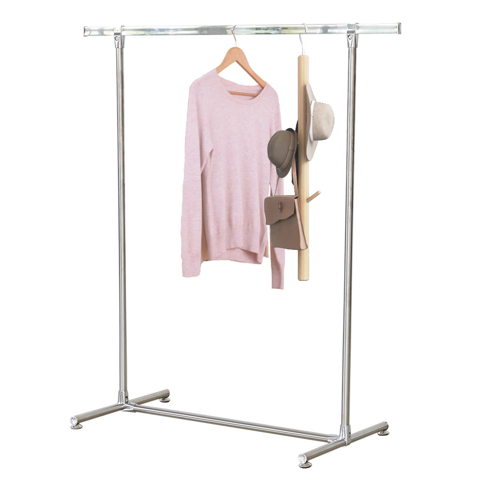 karmas product sturdy clothes garment rack stainless steel heavy duty hanging clothing rack