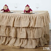 Efavormart 3 Tier Rustic Elegant Ruffled Burlap Table ...