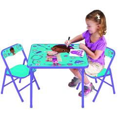 Doc Mcstuffins Erasable Activity Table And Chair Set Blue Medicine Ball Base Desk Hostgarcia