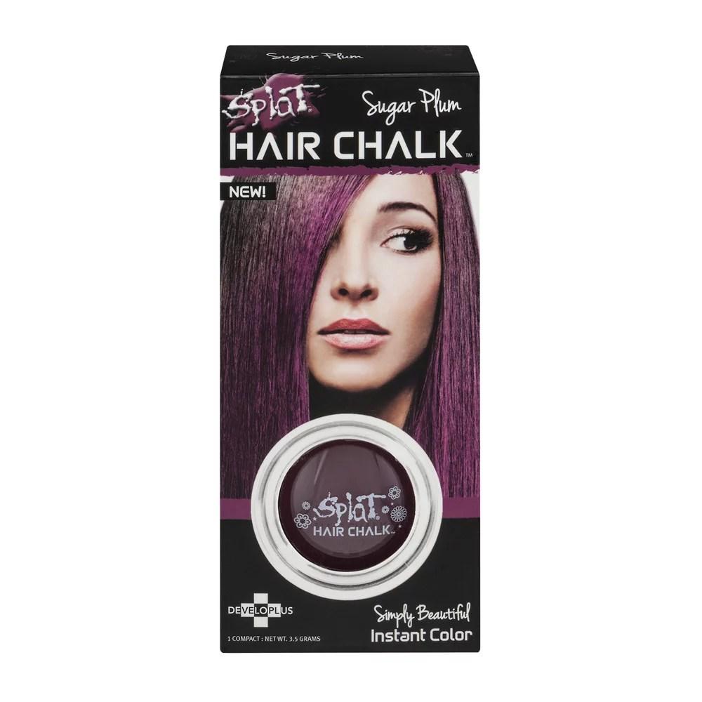 splat hair chalk sugar plum 3.5