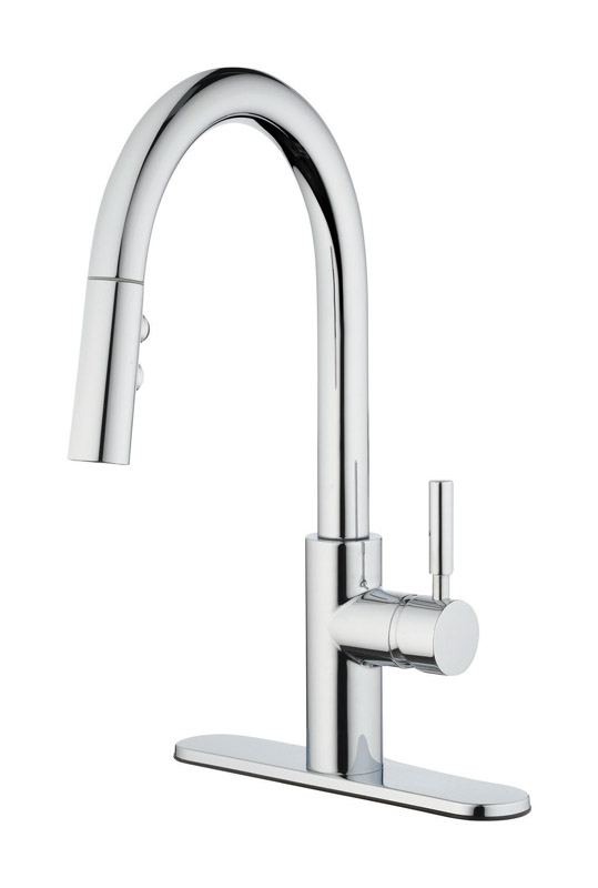 oakbrook vela one handle kitchen faucet with pulldown sprayer