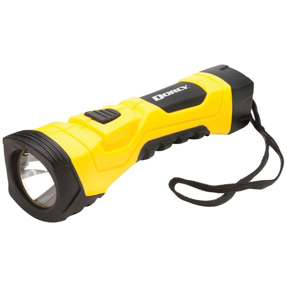 medium resolution of dorcy 190 lumen cyberlight durable led flashlight with true spot reflector yellow walmart com