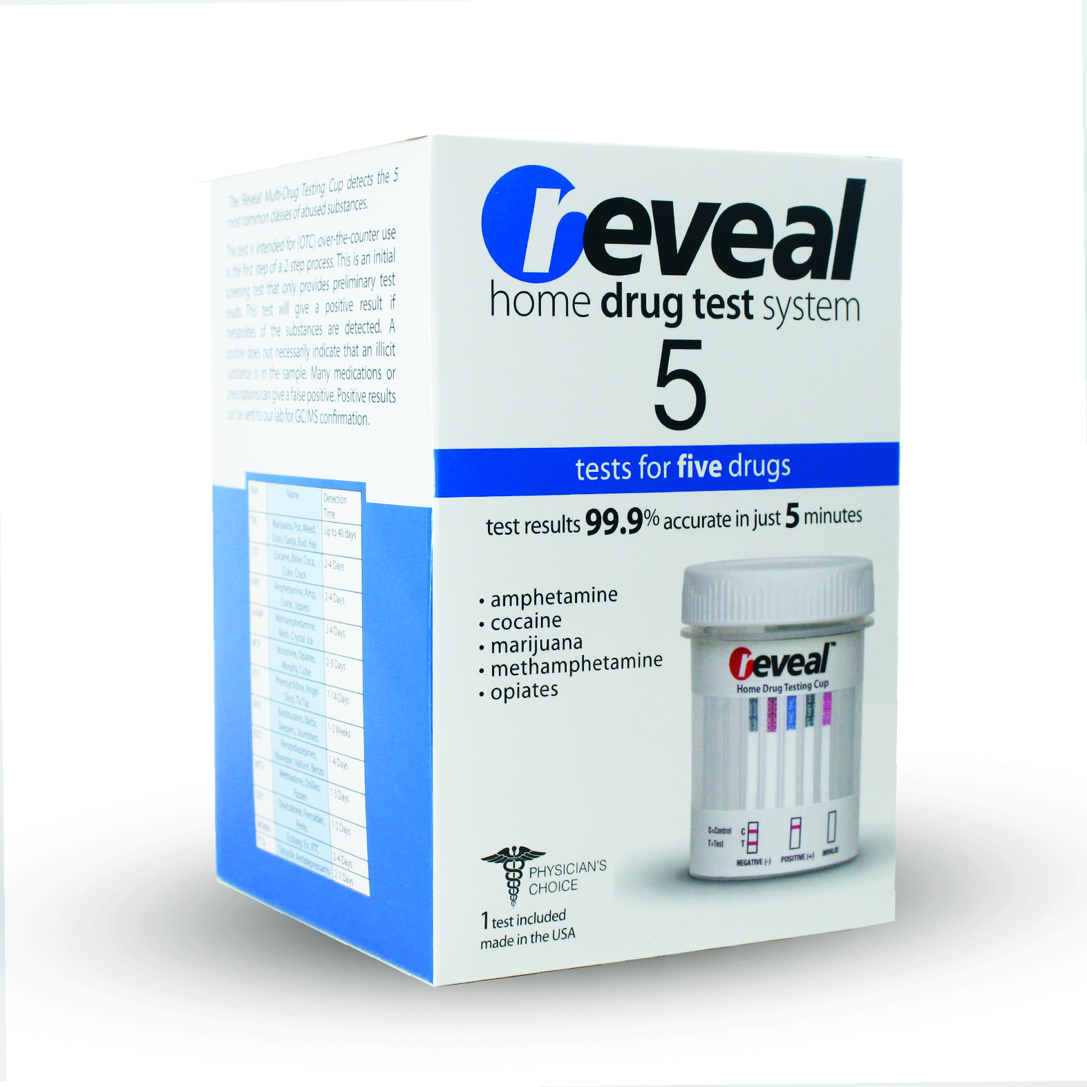 REVEAL 5 Panel Drug Test Cup w/out confirmation - Walmart ...