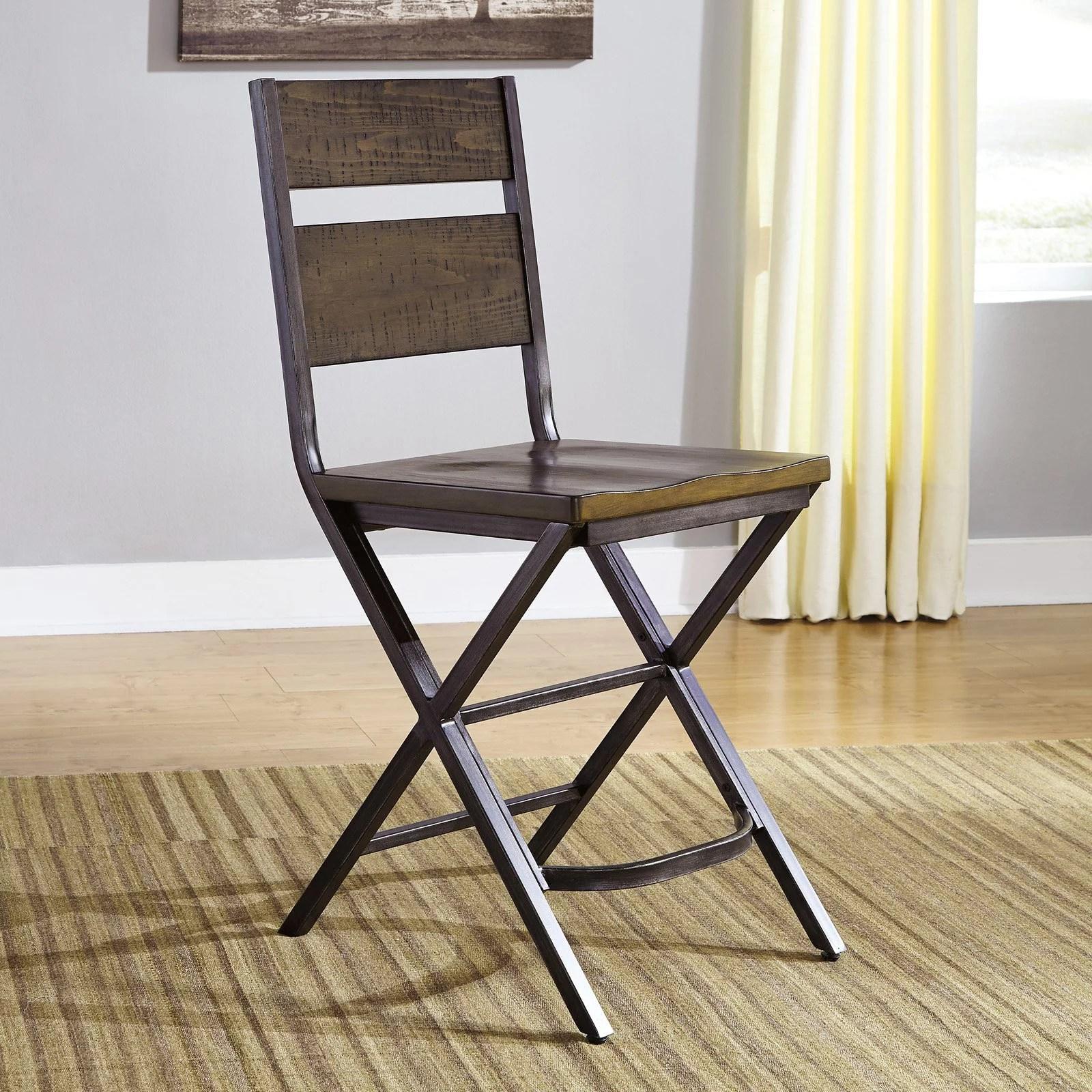 counter height bar chairs canvas beach signature design by ashley kavara stool set of 2 walmart com