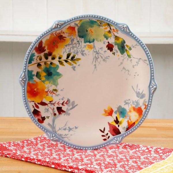 Pioneer Woman Willow 10.75- Dinner Plate Set Of 4