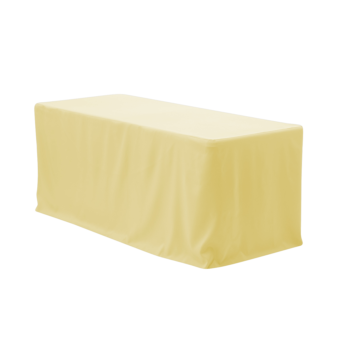 yellow chair covers best accent chairs for living room your 6 ft fitted polyester tablecloth rectangular pastel wedding party birthday patio etc walmart com