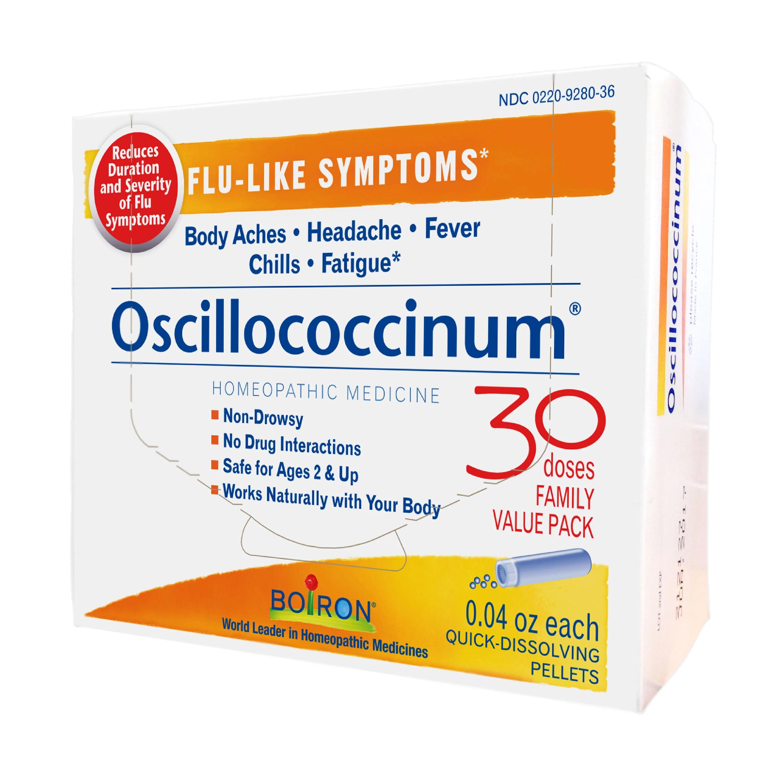 Boiron Oscillococcinum Flu-Like Symptom Relief, 30 Ct - Walmart ...