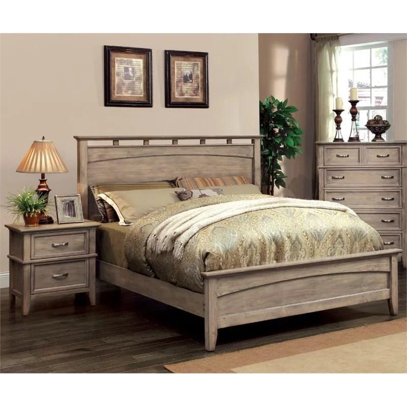 Furniture of America Ackerson Coastal 2 Piece Queen Panel Bedroom Set  Walmartcom